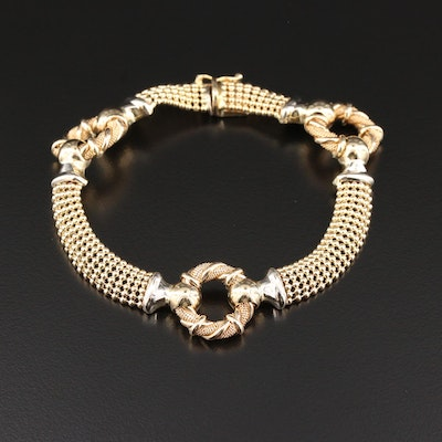 14K Yellow Gold Station Bracelet