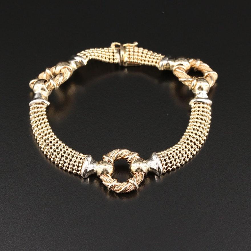 14K Yellow Gold Station Bracelet