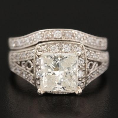 14K White Gold 2.57 CTW Diamond Ring