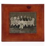 Antique Edwardsville, Illinois Semi-Professional Baseball Team Photograph