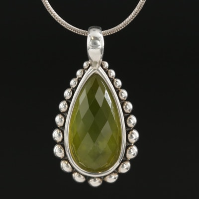 Lagos Sterling Silver Prehnite Pendant Necklace