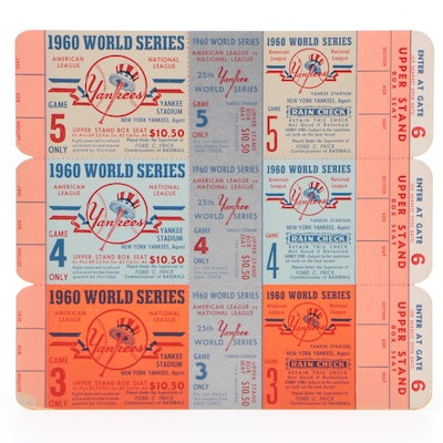 "1960 New York Yankees ""Proof"" World Series Tickets"