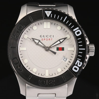 Gucci G-Timeless Sport Stainless Steel Quartz Wristwatch
