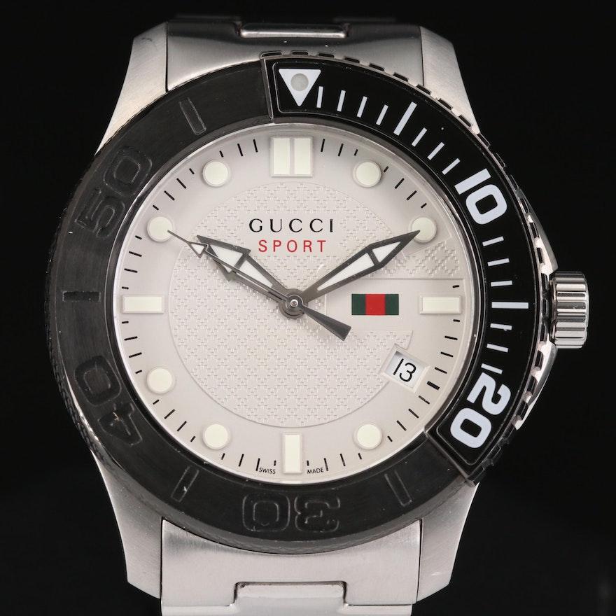 Gucci G-Timeless Sport Stainless Steel Quartz Wristwatch