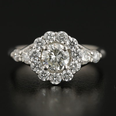 Vintage Platinum 1.42 CTW Diamond Ring