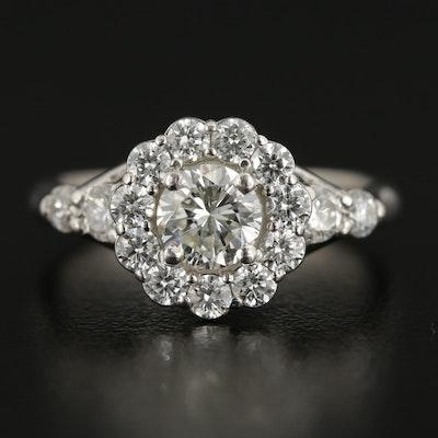 Vintage Platinum 1.42 CTW Diamond Ring