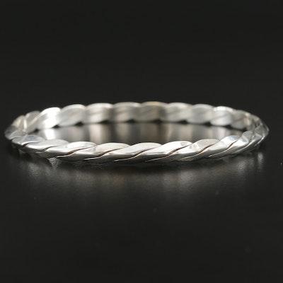 Tiffany & Co. Sterling Silver Twisted Knife-Edge Bangle Bracelet