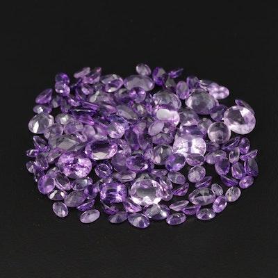 Loose 105.81 CTW Amethyst Gemstones