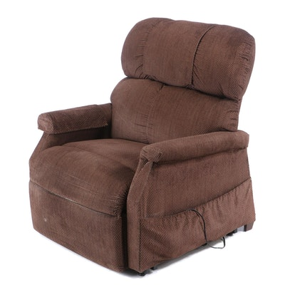 Brown Upholstered Electric Recliner