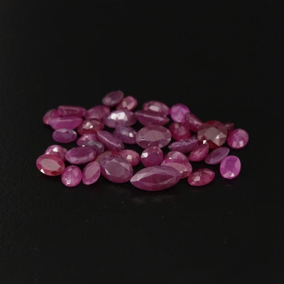 Loose 25.98 CTW Ruby Gemstones