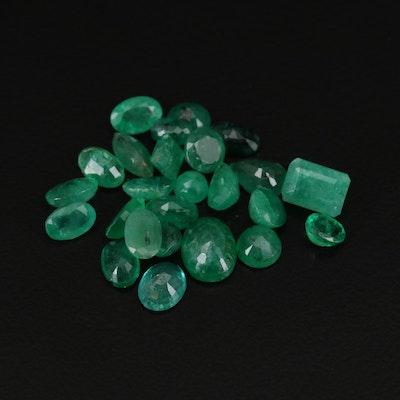 Loose 12.57 CTW Emerald Gemstones