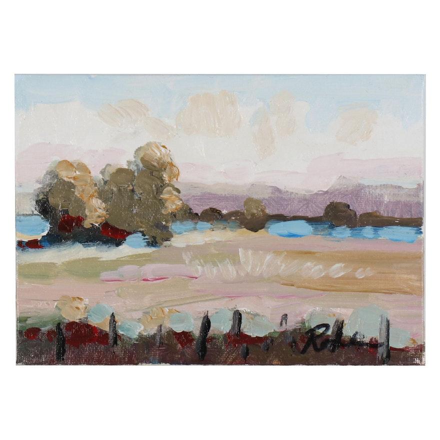 Sally Rosenbaum Landscape Oil Painting