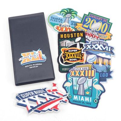 """Super Bowl Commemorative Patches 2007 """"XLI"""" Souvenir Note Book"""