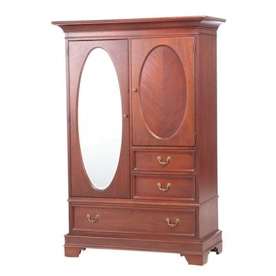 "Lexington Edwardian Style ""Vestiges"" Mahogany Wardrobe, Late 20th Century"