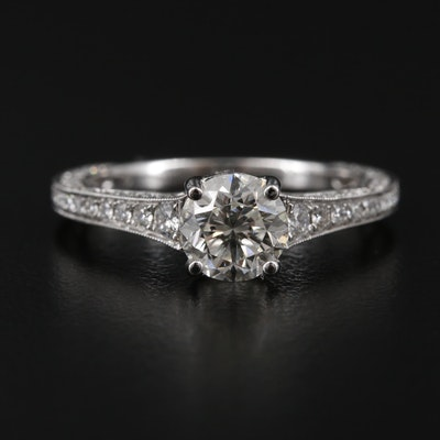 14K White Gold 1.69 CTW Diamond Ring