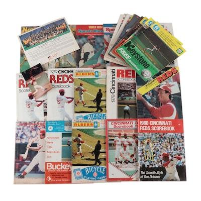 Cincinnati Reds Baseball Scorecards, Scorebooks, and More, 1970s-1980s