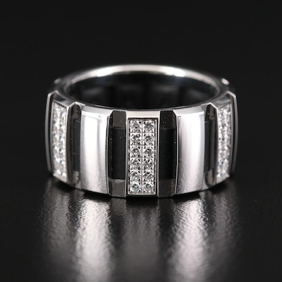 "Chaumet ""Classic One"" 18K White Gold Diamond Ring"