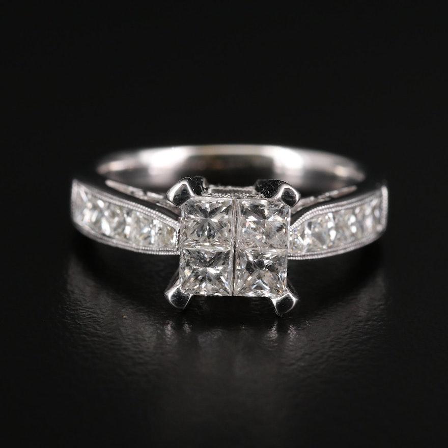 14K White Gold 1.93 CTW Diamond Ring
