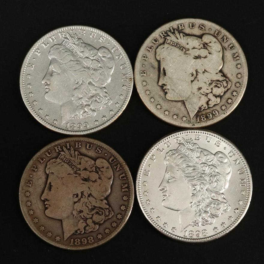 1898-O, 1898-S, 1899-O and 1899-S Morgan Silver Dollars