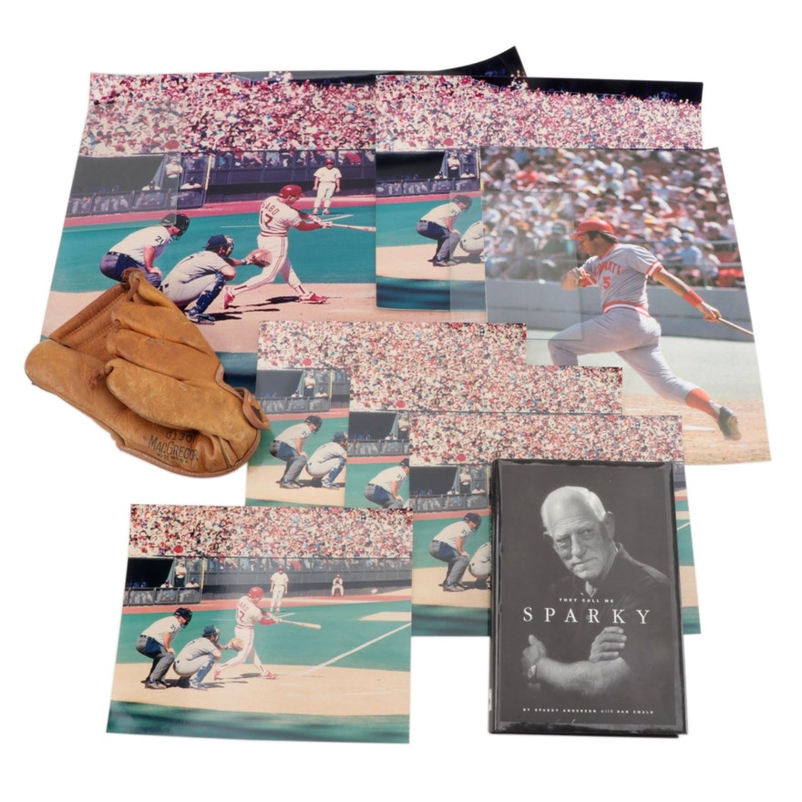 """""""They Call Me Sparky"""" Signed Book with Other Sports Memorablia"""