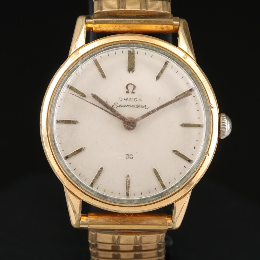 Omega Seamaster 30 Stainless Steel and Gold Plated Wristwatch, Vintage