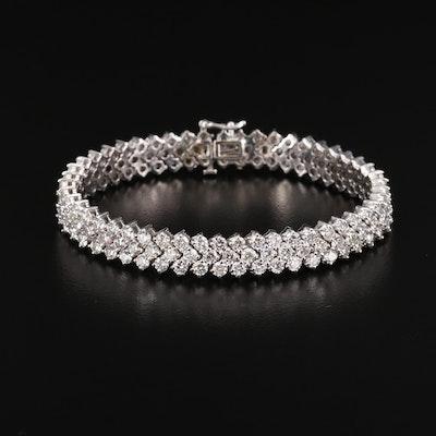 14K White Gold 15.06 CTW Diamond Bracelet