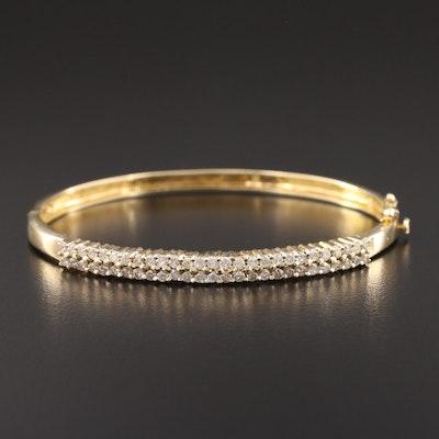 14K Yellow Gold 1.02 CTW Diamond Bangle Bracelet