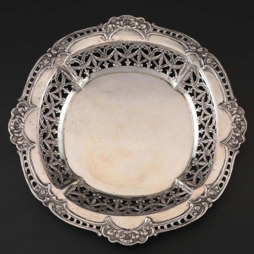 Shreve & Co. Pierced Sterling Silver Centerpiece Bowl, Early 20th Century