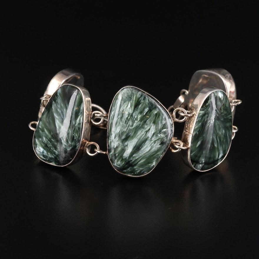 Sterling Silver Seraphinite Bracelet