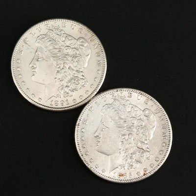 1885-S and 1891-S Morgan Silver Dollars