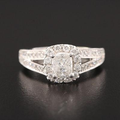 14K White Gold 1.51 CTW Diamond Ring