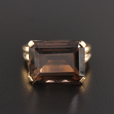 10K Yellow Gold 12.69 CT Tourmaline Ring