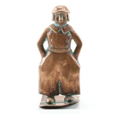 Cast Bronze Dutch Boy Figurine, 20th Century