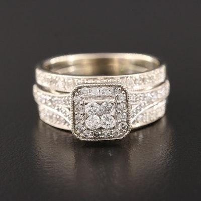 14K White Gold 0.94 CTW Diamond Ring