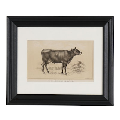 Lithographic Cow Plate from U.S. Consular Reports, Cattle and Dairy, 1888