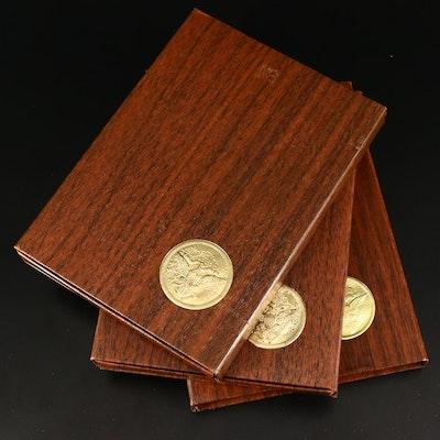 Three Eisenhower Proof Silver Dollars, 1971 to 1973