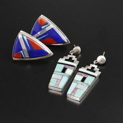 Southwestern Sterling Gemstone Earrings Featuring Marie Tsosie