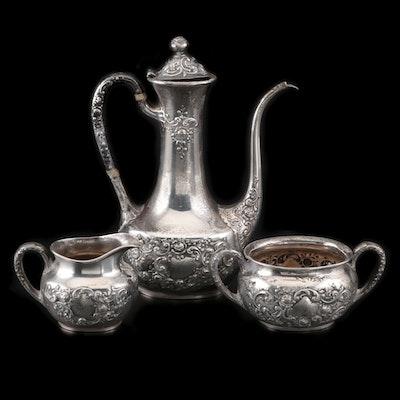 """Gorham """"Fleury"""" Sterling Miniature Tea Set, Mid-20th Century"""