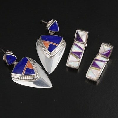Southwestern Sterling Gemstone Earrings Featuring Marie Tsosie