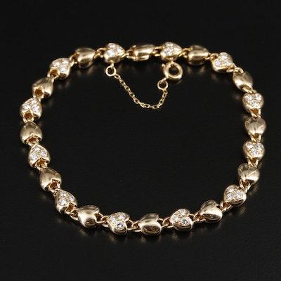 Cartier 18K Yellow Gold 1.00 CTW Diamond Heart Bracelet