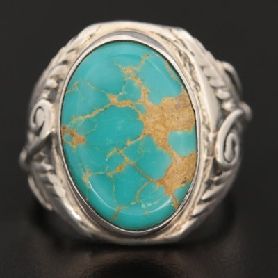Southwestern Sterling Silver Turquoise Ring