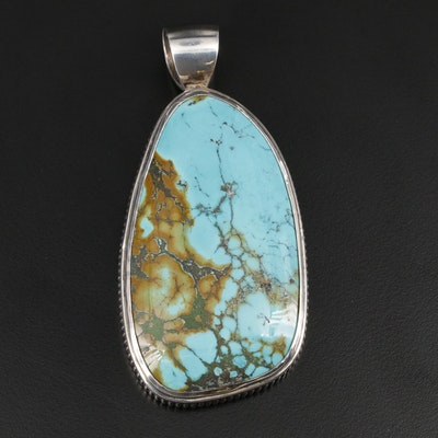 Southwestern Sterling Silver Turquoise Pendant