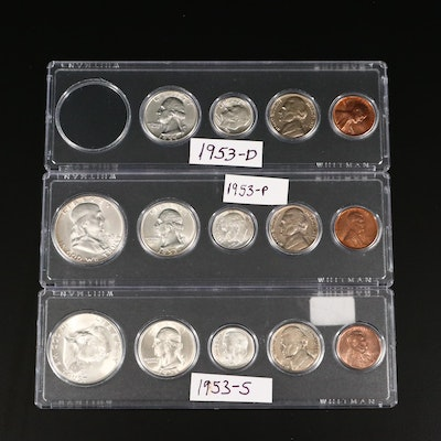 1953 P-D-S U.S. Type Coin Uncirculated Sets