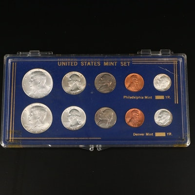 1964 U.S. Type Coin Set, Philadelphia and Denver Mints
