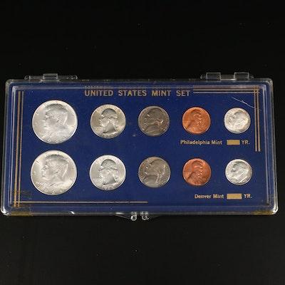 1964 U.S. Type Coin Set, Philadelphia and Denver Mints