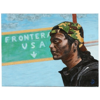 "Zofia Wilamowska Acrylic Painting ""Freedom at the Border"""