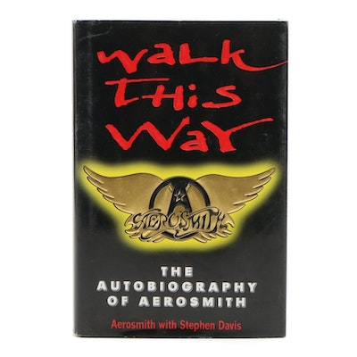 "Signed ""Walk This Way"" by Aerosmith Band Members, First Edition"