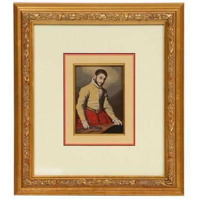 "English Woven Silk Stevengraph After Giovanni Moroni ""The Tailor"", circa 1959"