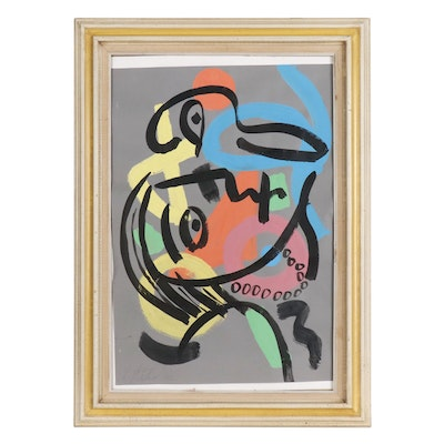 Peter Keil Abstract Oil Painting, 1983