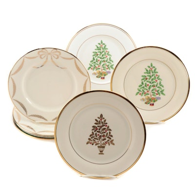 Lenox Holiday Theme Bone China Salad Plates